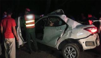 قومی شاہراہ پر کار حادثہ، 4 افراد جاں بحق