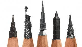 فنکار نے پینسل کی نوک پر دیدہ زیب فن پارے بنا ڈالے