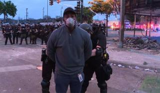 امریکا: مظاہروں کی کوریج کرنے والی سی این این ٹیم رہا