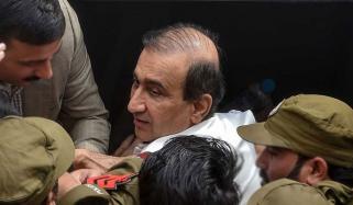 راولپنڈی: میر شکیل الرحمٰن کی گرفتاری کے خلاف احتجاجی مظاہرہ