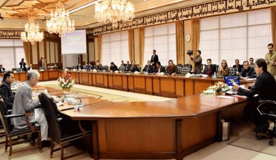 کابینہ اجلاس میں نواز شریف کی تصویر کا ذکر