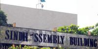 سندھ اسمبلی میں سینیٹائزنگ گیٹ نصب