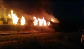 علامہ اقبال ایکسپریس میں آتشزدگی، 6 ریلوے ملازمین معطل