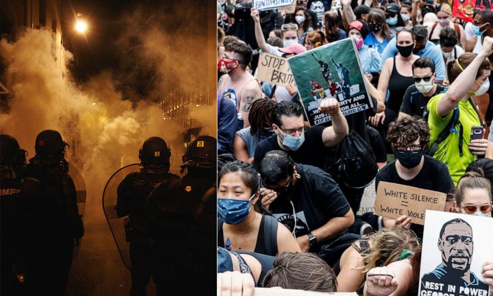 نیویارک پولیس کا مظاہرین پر کیمیکل پھینکنے کا اعتراف
