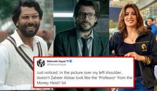 مہوش حیات نے ظہیر عباس کو 'منی ہیسٹ' کے کردار سے مشابہہ قرار دیدیا