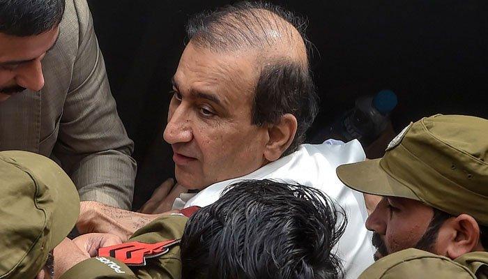 راولپنڈی میں میر شکیل الرحمٰن کی گرفتاری کے خلاف احتجاج