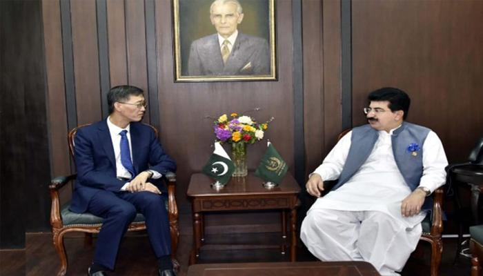 اسلام آباد: چیئرمین  سینیٹ سے چینی سفیر کی ملاقات