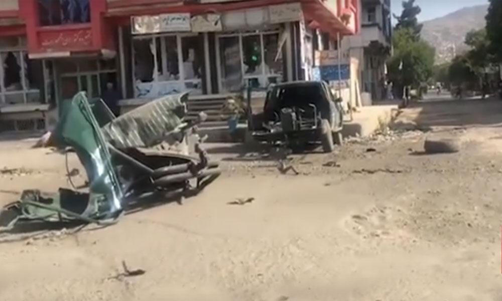 کابل: پولیس موبائل کے قریب دھماکا