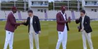 انگلینڈ، ویسٹ انڈیز کپتانوں کی ہاتھ ملانے کی غلطی