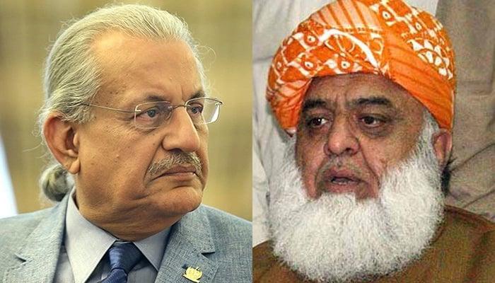 فضل الرحمٰن سے رضا ربانی کی ملاقات، ملکی موجودہ سیاسی صورتحال پر تبادلہ خیال