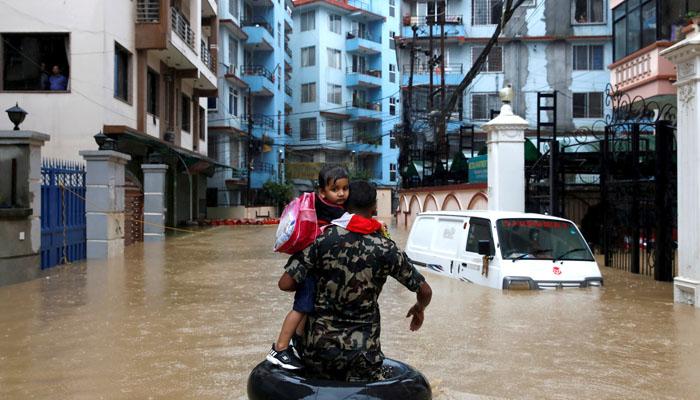 نیپال میں سیلاب، لینڈ سلائیڈنگ سے 40 ہلاک
