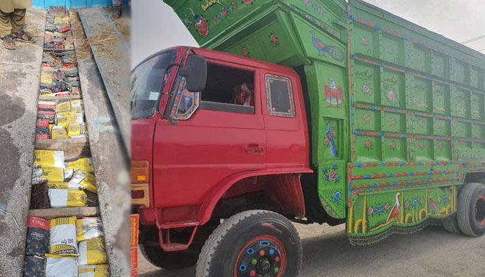 افغانستان سے پاکستان میں داخل ہونے والا چرس سے بھرا ٹرک پکڑا گیا