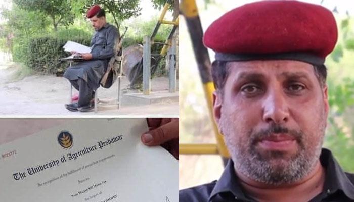 پشاور، ذہین چوکیدار نے ایم فل کی ڈگری حاصل کرلی