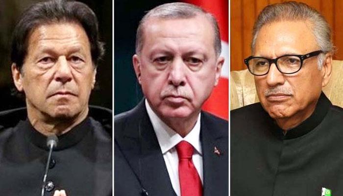 صدر اردوان کا صدر علوی اور وزیراعظم عمران خان سے ٹیلی فونک رابطہ