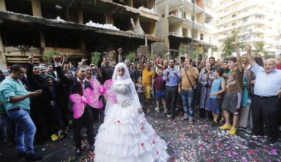 لبنان دھماکے: دلہن بال بال بچ گئی
