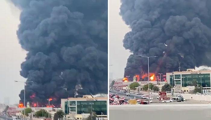 متحدہ عرب امارات: عجمان کے بازار میں آتشزدگی