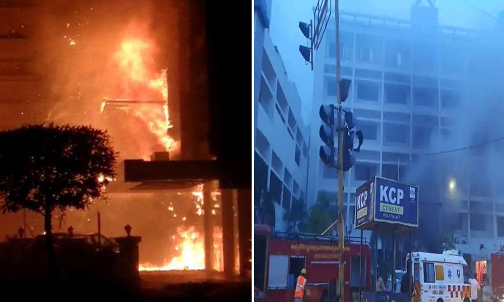 آندھرا پردیش: ہوٹل میں آتشزدگی، 9 کورونا مریض ہلاک