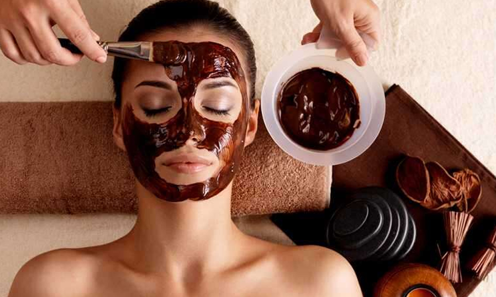 Chocolate facial for glowing skin