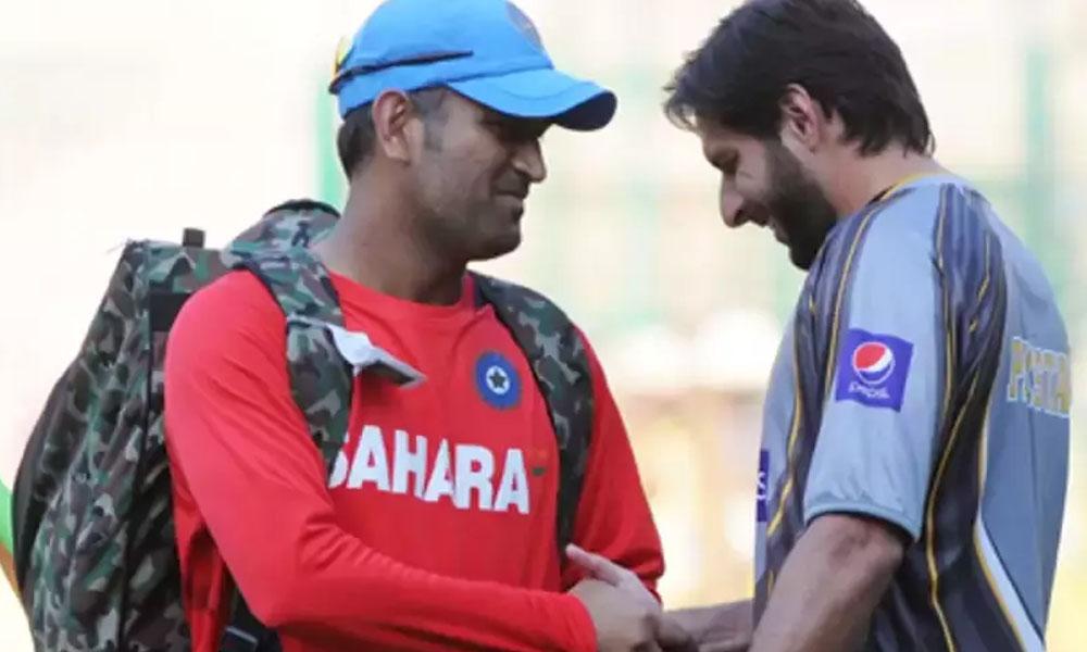 دھونی بھارتی کرکٹ کے حقیقی لیجنڈ ہیں: شاہد آفریدی
