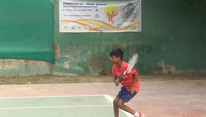 تقویت الایمان ٹینس چیمپئن شپ: مصحب، ابراہیم، اظہر اور محمد علی کوارٹر فائنل میں