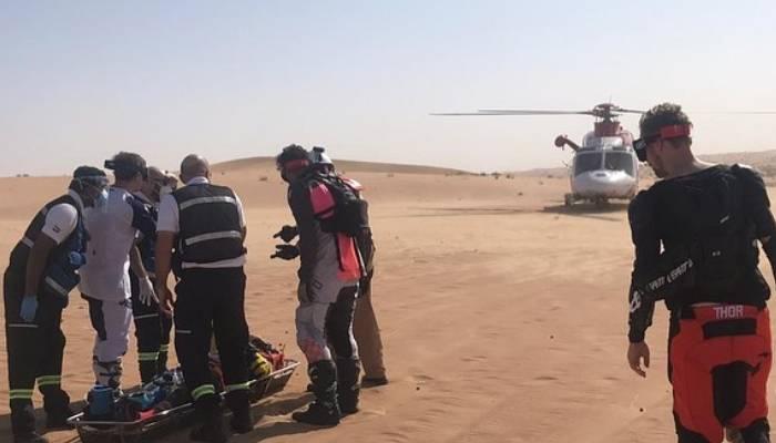 دبئی کے صحرا میں برطانوی شہری زخمی