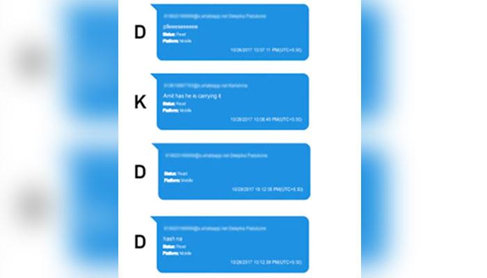 دپیکا، شردھا کی ڈرگز سے متعلق واٹس گفتگو منظرعام پر آگئی