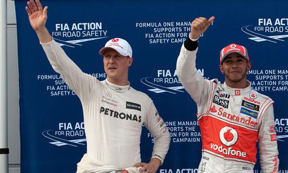 فارمولا ون: لوئی ہملٹن مائیکل شوماکر کا ریکارڈ نہ توڑ سکے
