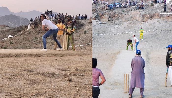 یونس خان نوجوانوں کے ساتھ 'ٹیپ بال' کرکٹ کھیل کر خوش