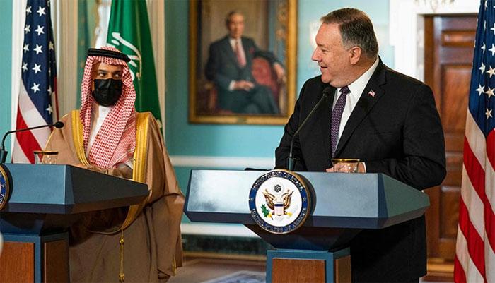 سعودی اور امریکی وزراخارجہ کی ملاقات، امید ہے ریاض اسرائیل سے تعلقات پر غور کرے گا، پومپیو