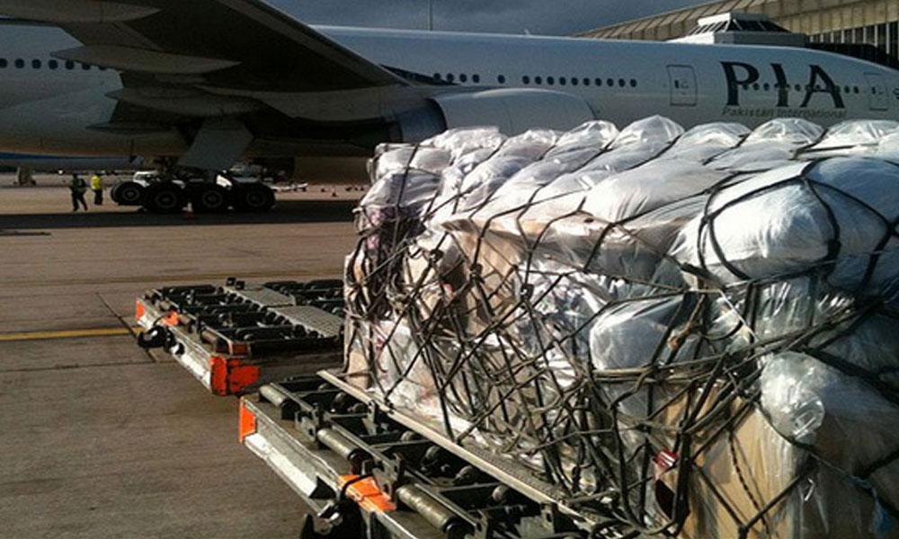 PIA پرواز سے غیر ملکی گاڑیوں کا سامان برآمد