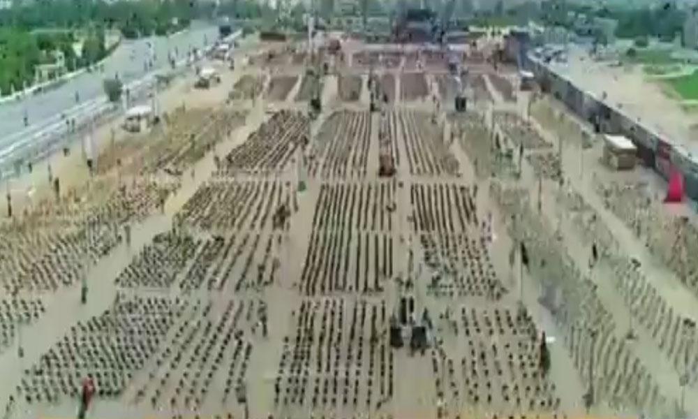 کراچی، جلسہ گاہ میں 50 ہزار سے زائد کرسیاں رکھنے کا دعویٰ