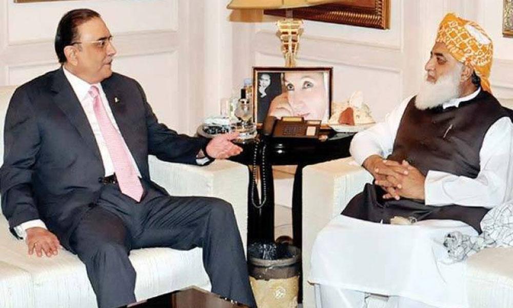 فضل الرحمٰن کی زرداری سے اسپتال میں اہم ملاقات