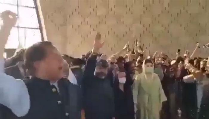 مزار قائد پر نعرے بازی، PTIکا ن لیگ پر مقدمے کا اعلان