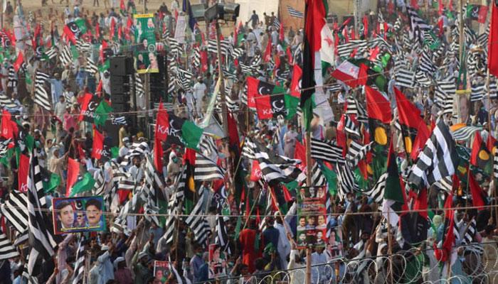 کراچی:جلسہ اسٹیج کی طرف جانے والامشکوک شخص زیر حراست
