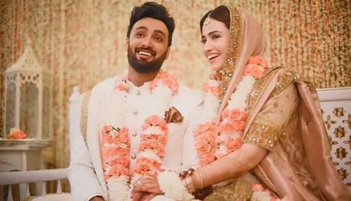 ثنا جاوید اور عمیر جسوال نے شادی کرلی
