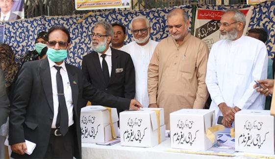 حقوق کراچی ریفرنڈم کے نتائج کا اعلان