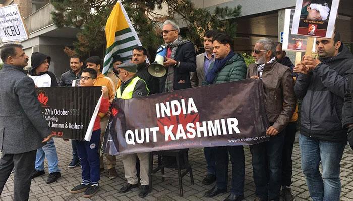کل برسلز میں بھارتی سفارتخانے کے سامنے مظاہرہ کیا جائیگا