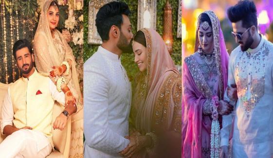 کورونا وائرس کے دوران شادی کرنے والے پاکستانی فنکار