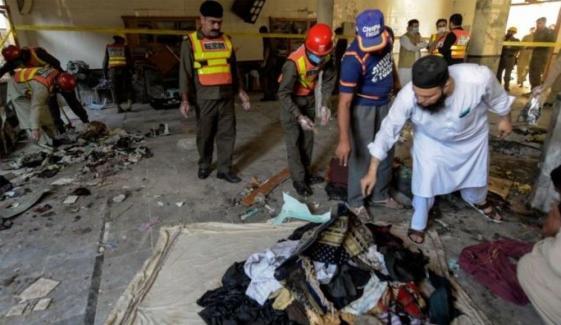 پشاور: دھماکے سے تباہ مدرسے میں تدریس کا عمل معطل