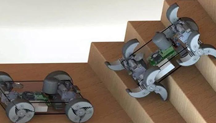 ایک ہی وقت میں پہیوں اور ٹانگوں والا روبوٹ