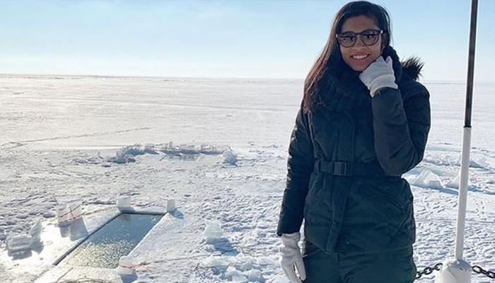 دنیا کی گہری ترین جھیل میں ڈائیونگ کرنے والی پہلی عرب خاتون