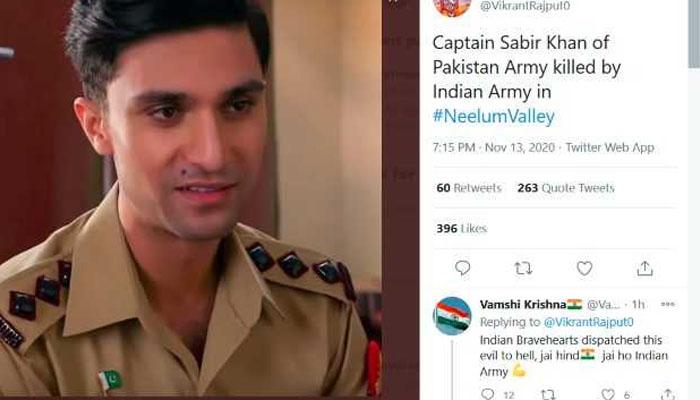 احد رضا میر کوشہید فوجی کہنے والے بھارتی نے اپنا مذاق بنوالیا