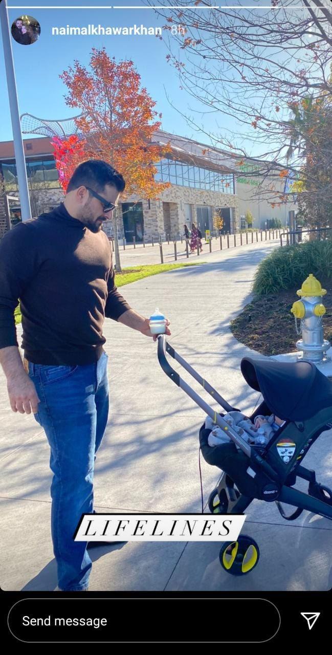 حمزہ علی عباسی کی بیٹے کیساتھ تصویر وائرل