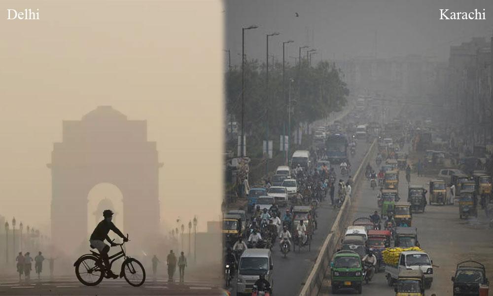 آلودگی میں دہلی پہلے، لاہور دوسرے، کراچی چوتھے نمبر پر
