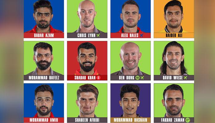 پی ایس ایل 2020 ڈریم ٹیم کا اعلان، قلندرز کے 6 کھلاڑی شامل