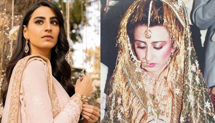 خوبرو اداکارہ رحمت اجمل نے والدہ کی شادی کی تصاویر شیئر کردیں