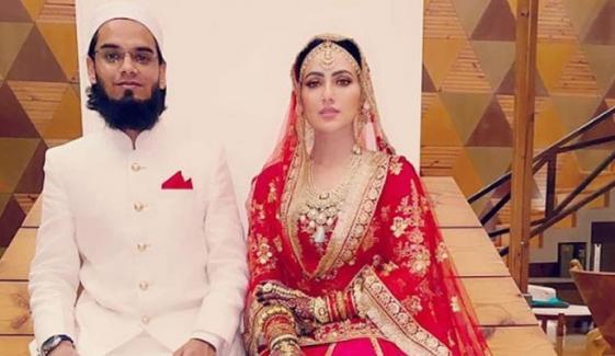 بالی ووڈ کی سابقہ اداکارہ ثنا خان کیلئے شوہر کا محبت بھرا پیغام