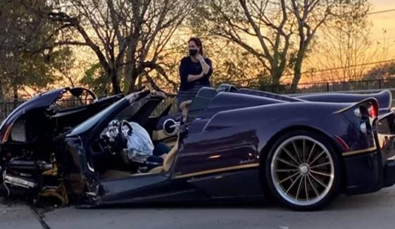 نوجوان یوٹیوبر نے والد کی 54 کروڑ کی گاڑی تباہ کردی