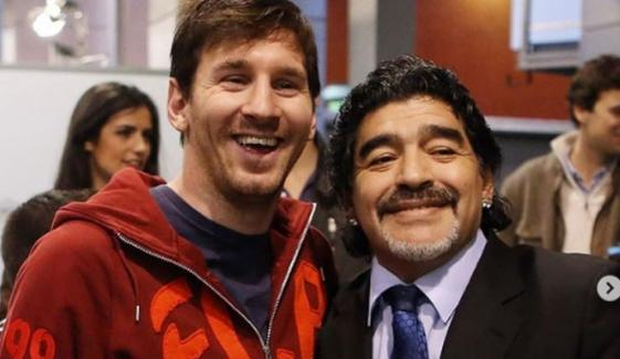 لیونل میسی کا میراڈونا کو خراج تحسین