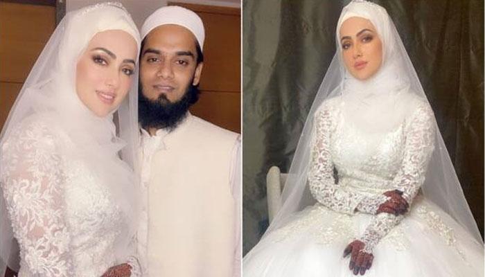 بھارتی اداکارہ ثنا خان کا انس سید سے شادی کا اعلان، انسٹا گرام پر تصاویر شیئر
